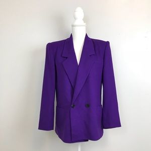 Christian Dior Vintage Purple Wool Blazer